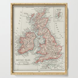 Map of The British Isles Serving Tray