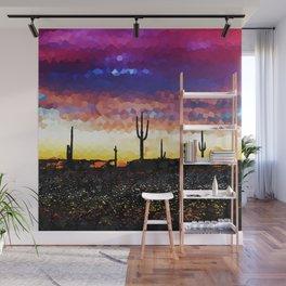 Rock Candy Desert Sunset. Wall Mural