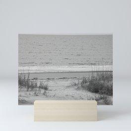 Beach in Black and White Mini Art Print