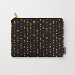 October Fall Season Triangle Pattern Halloween Carry-All Pouch