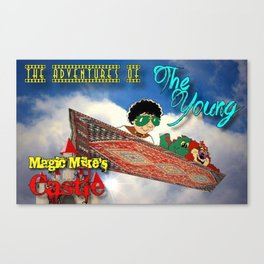 Adventures of Young Magic Mike's Castle Canvas Print