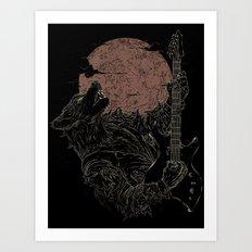 The Rock Werewolf Art Print