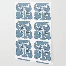 Fashion Po-Nays Blue Wallpaper