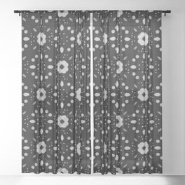 Bold Bloom | No. 6 | Floral Repeat Pattern Sheer Curtain