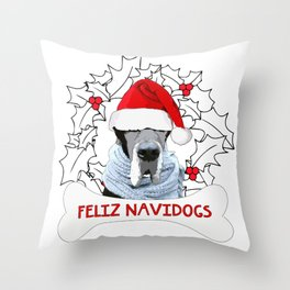 Feliz Navidog Throw Pillow