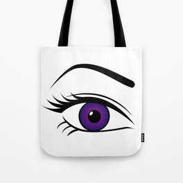 Violet Right Eye Tote Bag