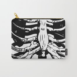 Skeleton Ribs | Black and White Carry-All Pouch