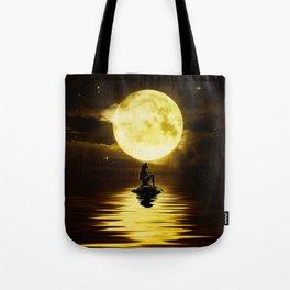 Beauty Mermaid Starry Night Tote Bag