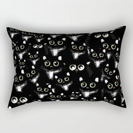 Black Cats Rectangular Pillow