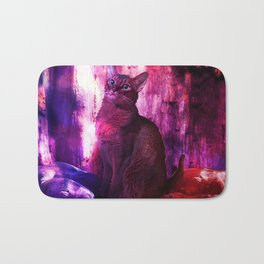 The Sunkissed Abyssinan Cat from Planet Kitarus Bath Mat