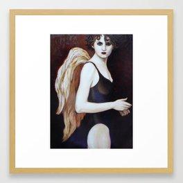 Black Angel Framed Art Print