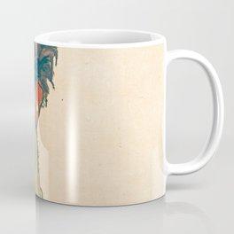 "Egon Schiele ""Self-Portrait with Striped Shirt"" Coffee Mug"