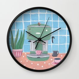 Cute Coffee Maker Wall Clock
