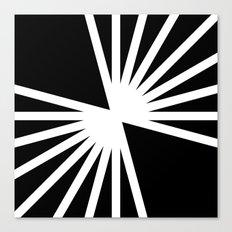B/W Blast Canvas Print