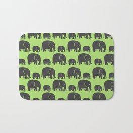 Elephant Wild Green Bath Mat