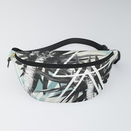 Cali Summer Vibes Palm Trees Geometric Triangles #1 #tropical #decor #art #society6 Fanny Pack