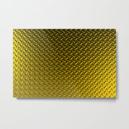 Dirty checkered gold plate Metal Print