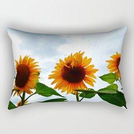 Deformed Sunflower Rectangular Pillow