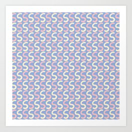 Upper Case Letter S Pattern Art Print