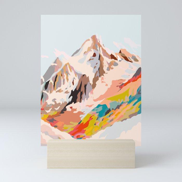 glass mountains Mini Art Print