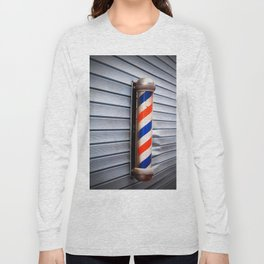 Vintage Barber Pole Long Sleeve T-shirt
