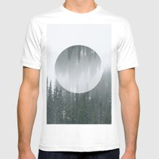 Abstract Winter White Mens Fitted Tee MEDIUM