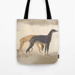 Two Sighthounds Tote Bag