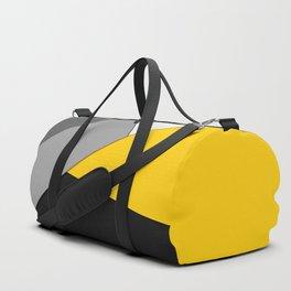 Simple Modern Gray Yellow and Black Geometric Duffle Bag