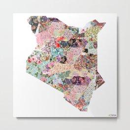 Kenya map Metal Print