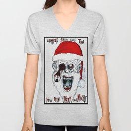 Santa Of The Dead Unisex V-Neck