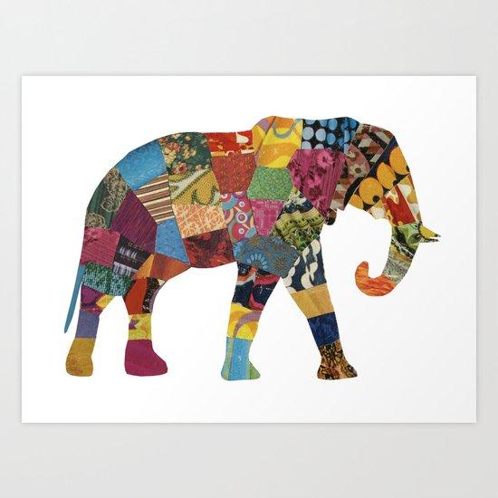 The Elephant. Art Print