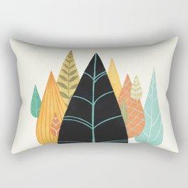 Fair Forest- Retro Orange Palette Rectangular Pillow
