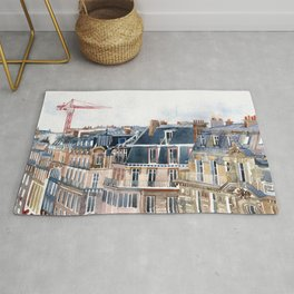 Roofs of Paris Rug
