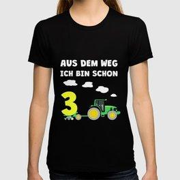 Kinder 3. Geburtstag Ich bin schon 3 Jahre Traktor Trecker  T-shirt