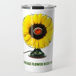 ORGANIC INVENTIONS SERIES: Vintage Flower Desk Fan Travel Mug