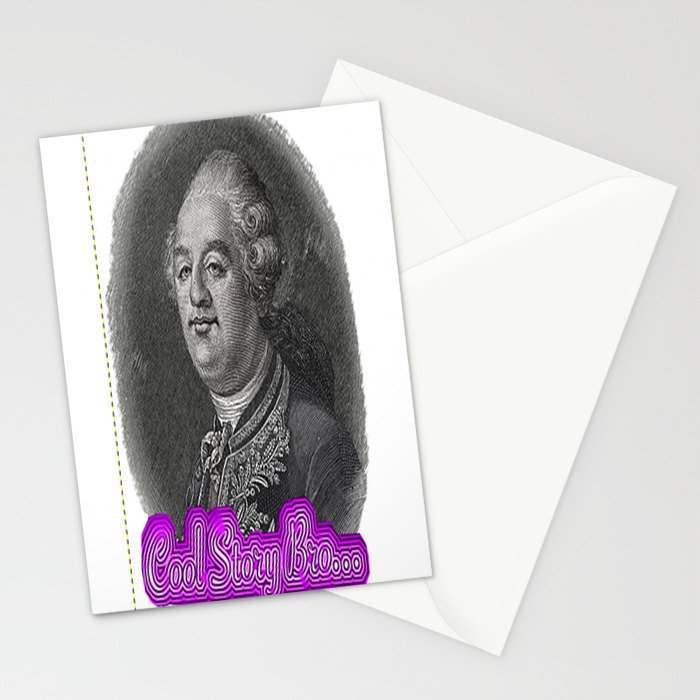 Cool Story King Louis XVI Stationery Cards