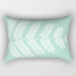 Mint Leaflets Rectangular Pillow