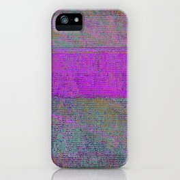 pink static iPhone Case