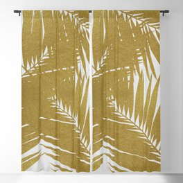 Palm Leaf Gold III Blackout Curtain
