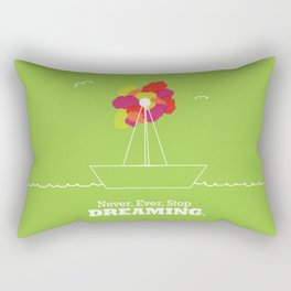 Never Stop Dreaming Rectangular Pillow