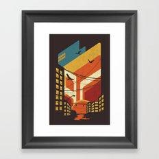 Street Framed Art Print