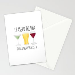 I Passed The Bar (But I Went In First) Stationery Cards