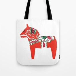 Swedish Wooden Horse Tote Bag