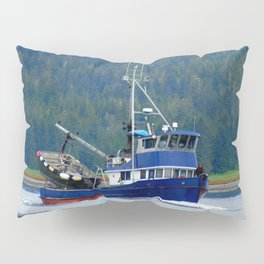 Petersburg Alaska Fishing Boat Pillow Sham