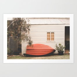 Boatman's Shack Art Print