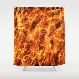 Burning fire effect Shower Curtain