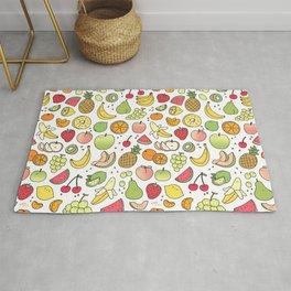 Juicy Fruits Doodle Rug