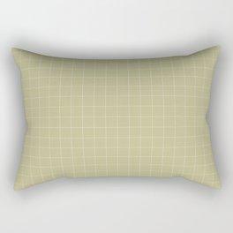 sage grid Rectangular Pillow