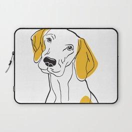 Dog Modern Line Art Laptop Sleeve