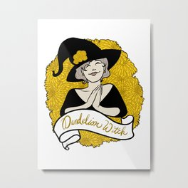 Dandelion Witch Metal Print
